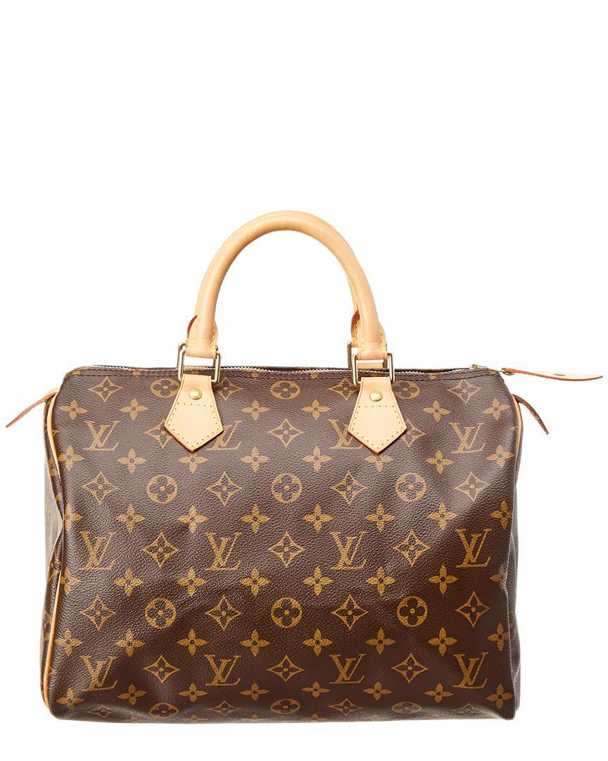 9ae3db899db4 Lyst - Louis Vuitton Monogram Canvas Speedy 30 in Brown - Save ...