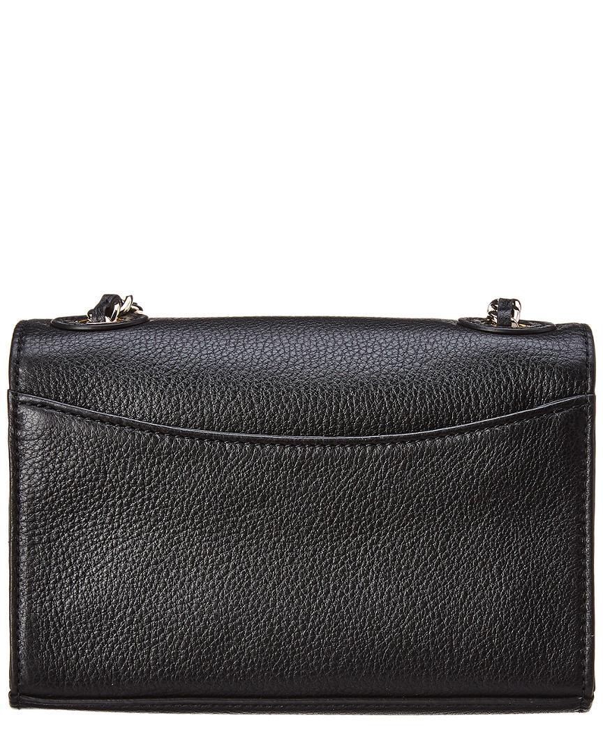 1a1386e1cbe0 Lyst - Tory Burch Bombe Shrunken Small Leather Shoulder Bag in Black