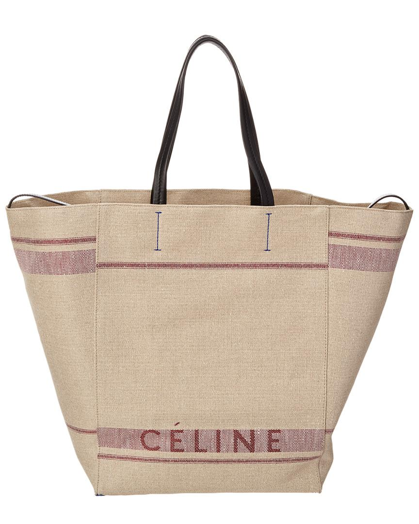 Céline Céline Large Cabas Phantom Canvas Tote in Purple - Lyst d47e4e773a1bf