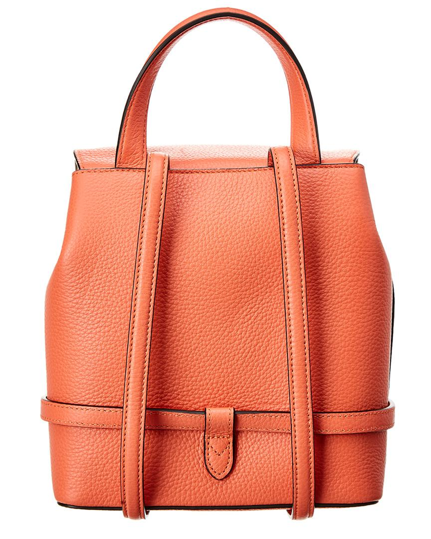 Mulberry Mini Bayswater Leather Backpack in Orange - Lyst 1c9e9b10b7e7b