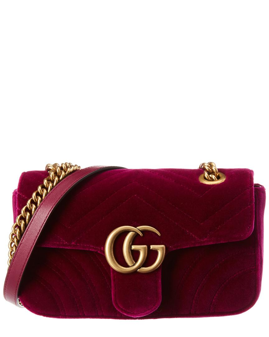 abf207c6fcdb Gucci. Women's GG Marmont Mini Velvet Shoulder Bag