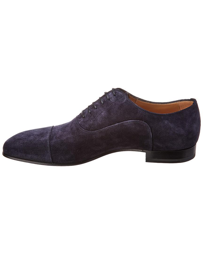 0735af698ad8 Lyst - Christian Louboutin Greggo Flat Crosta Suede Oxford in Blue for Men