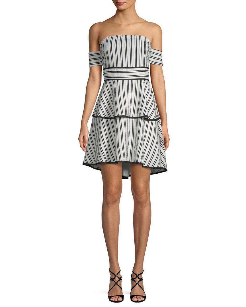a479fb63f Lyst - Endless Rose Cold-shoulder Stripe Dress in Black
