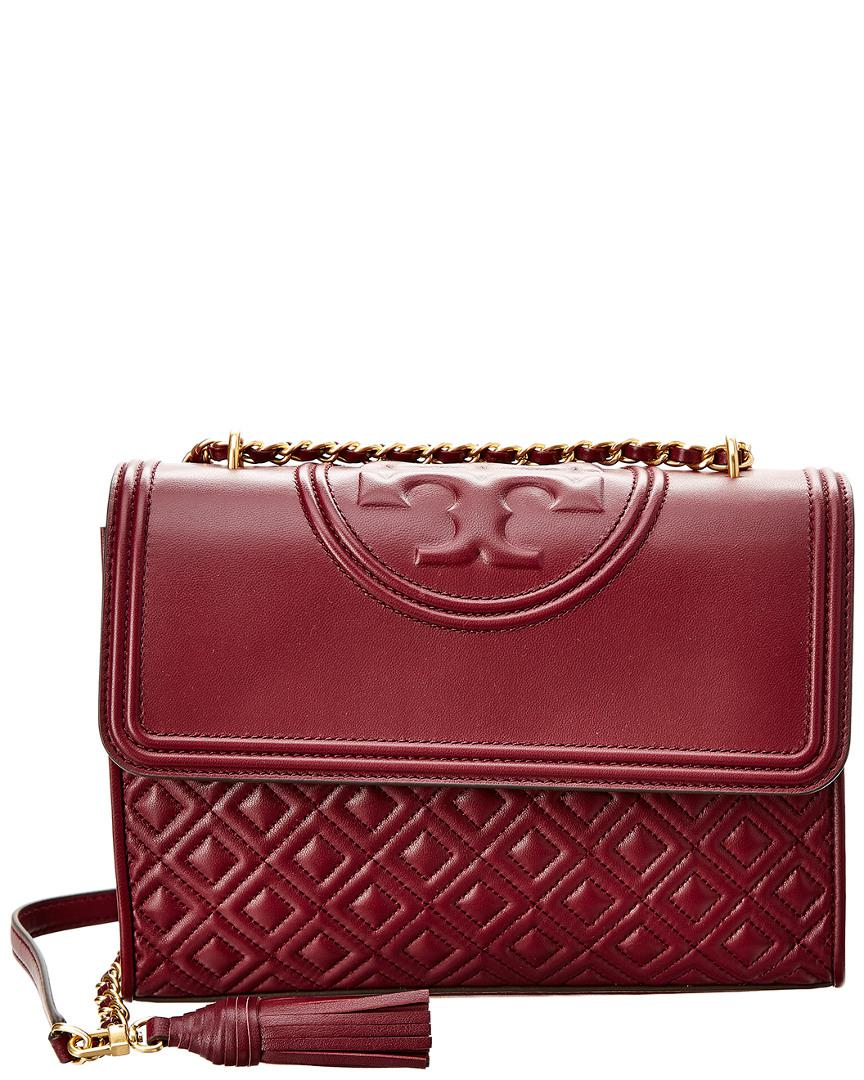 dfc6ed90b3fb Tory Burch Fleming Leather Convertible Shoulder Bag in Red - Save 40 ...
