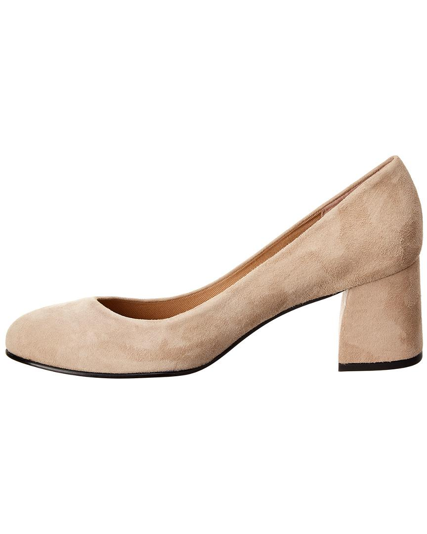 1b40f284d2 French Sole Carnelian Suede Pump in Natural - Lyst