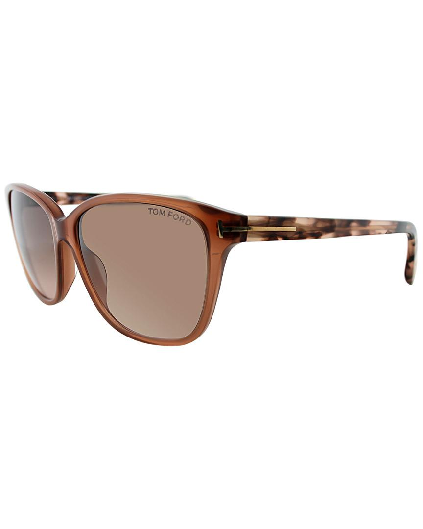 1191dfc5cd66f Lyst - Tom Ford Dana 59mm Sunglasses in Brown