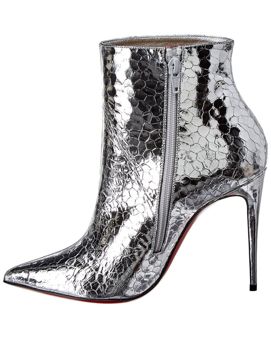 d4a005d1d57d Lyst - Christian Louboutin So Kate 100 Metallic Leather Bootie in Metallic  - Save 5%