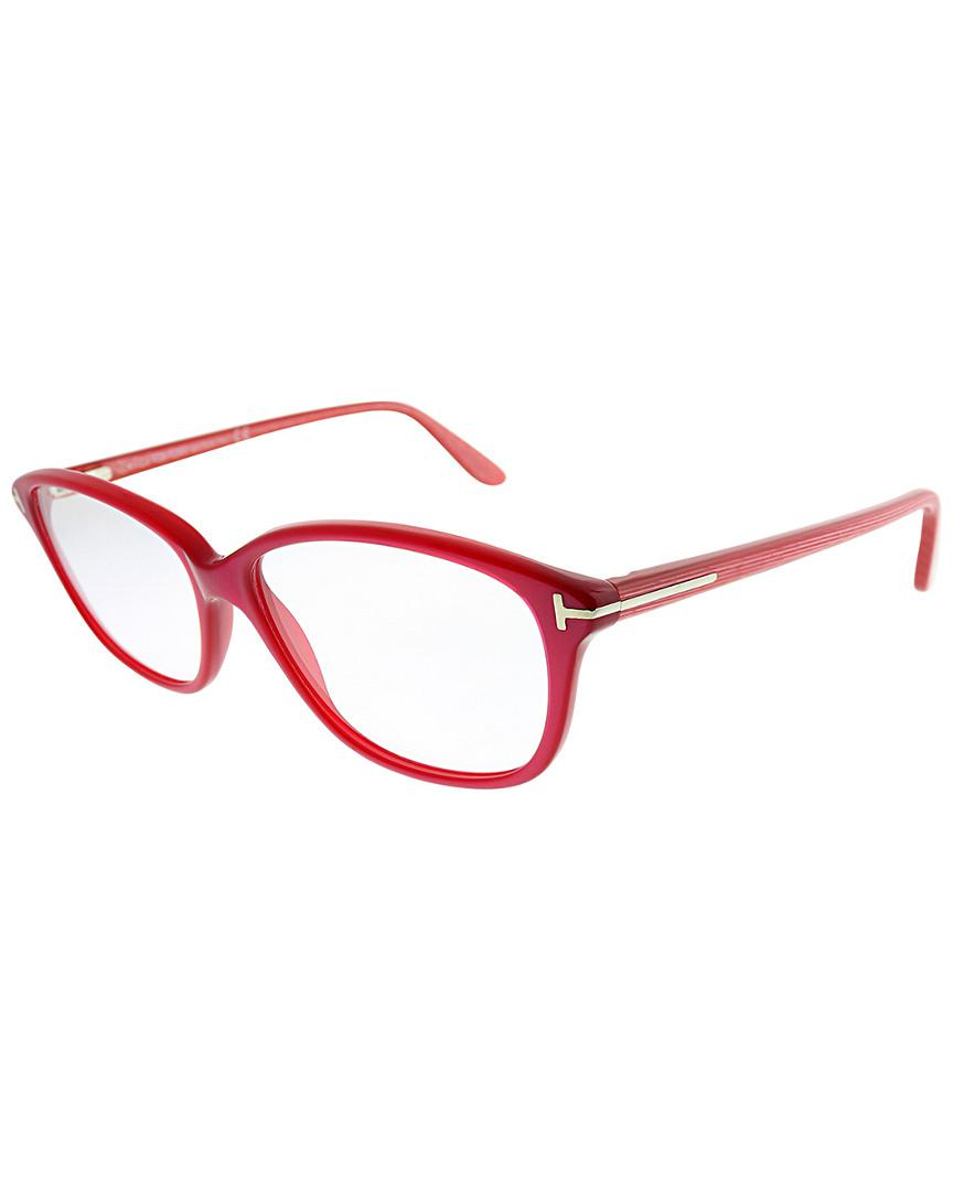 5fea41860b7 Lyst - Tom Ford 54mm Optical Frames in Red