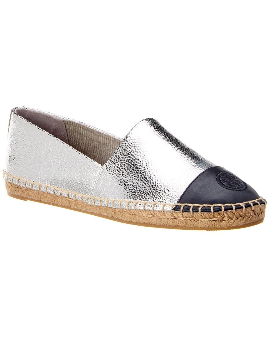 be30c8a3fbb1 Tory Burch Colorblock Leather Espadrille in Metallic - Lyst