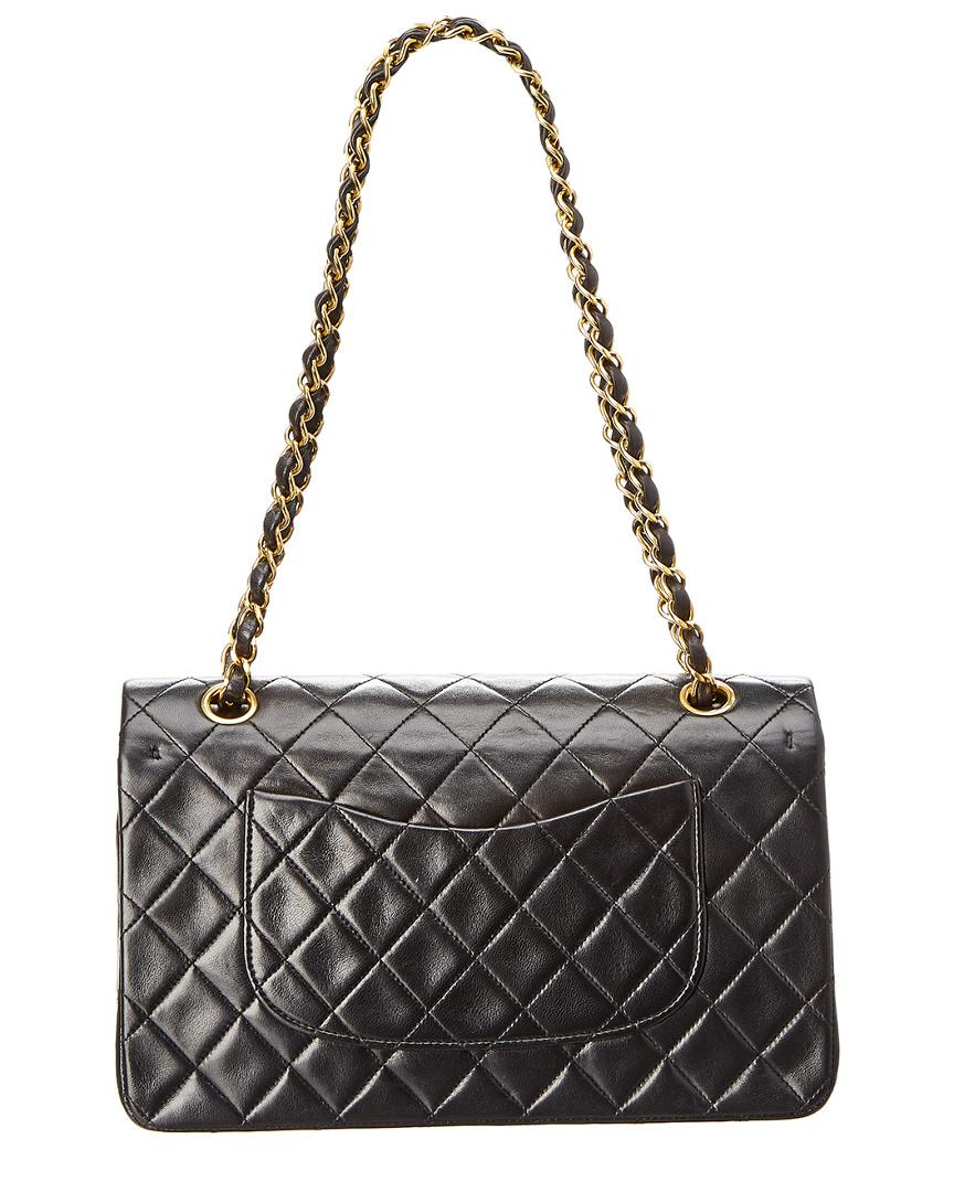 b5e4b022e132 Lyst - Chanel Black Quilted Lambskin Leather Reissue 2.55 Medium Double Flap  Bag in Black - Save 16.305916305916313%