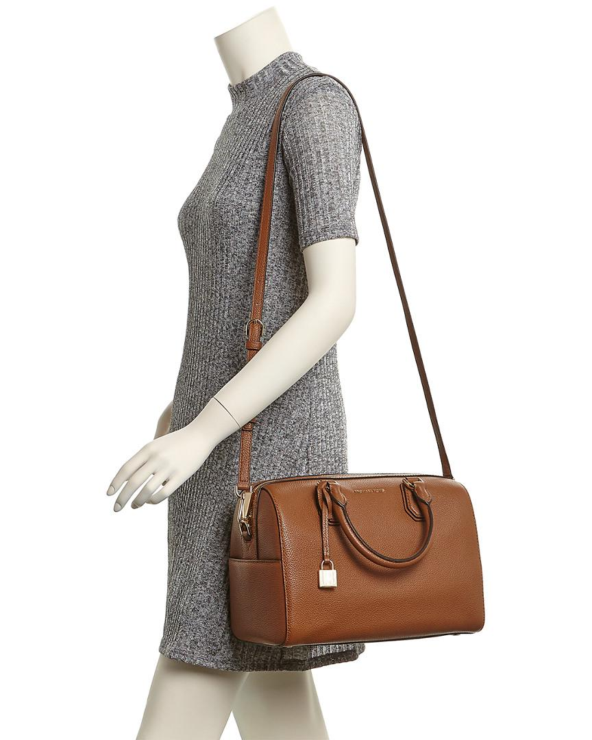 239014ed7e59 Lyst - MICHAEL Michael Kors Mercer Medium Leather Duffel Bag in Brown