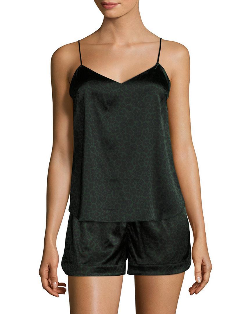 Stella Mccartney Lingerie Ellie Leaping Silk Camisole in Black - Lyst fb14289ea