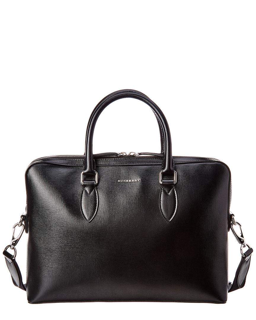 1fbc053261c8 Lyst - Burberry Slim Barrow Leather Briefcase in Black for Men ...