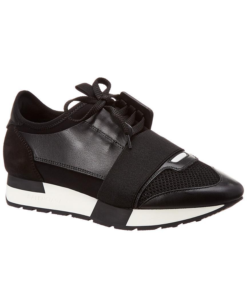 b735b8b5ed82 Balenciaga Race Runner Sneakers in Black for Men - Save 32% - Lyst