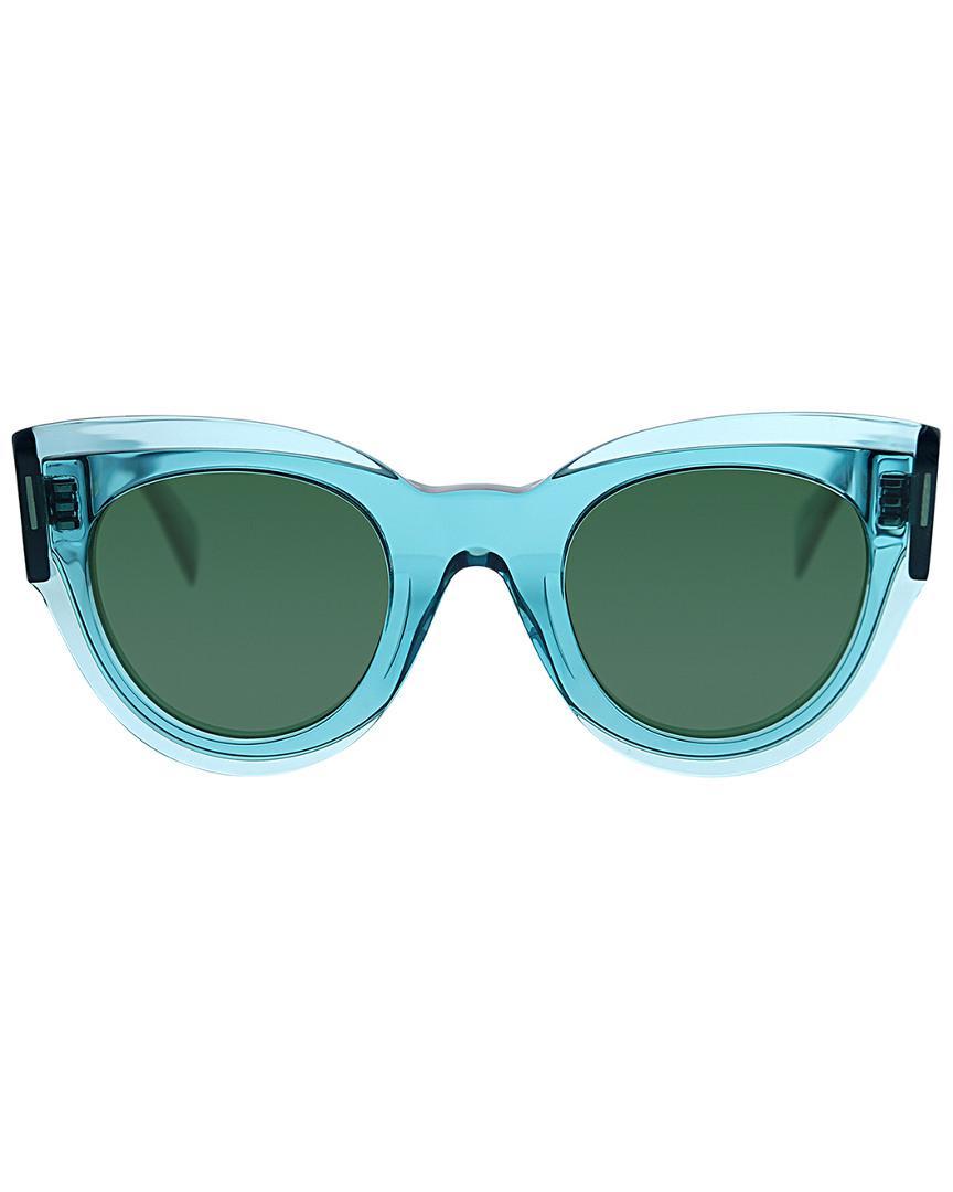 d877e0ab57b2 Lyst - Céline Cat-eye 48mm Sunglasses in Blue - Save 24%