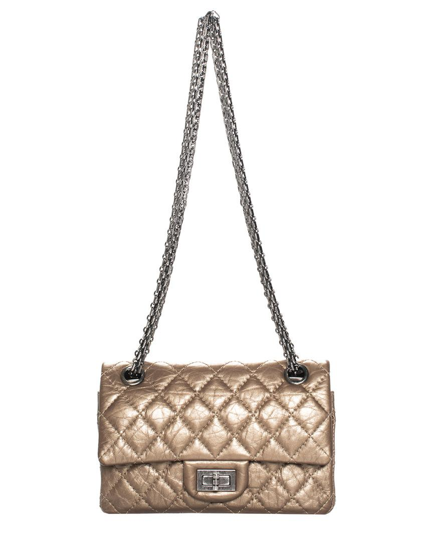 3e3d17fd1e19f9 Chanel Bronze Quilted Leather 2.55 Reissue 224 Flap Bag - Lyst