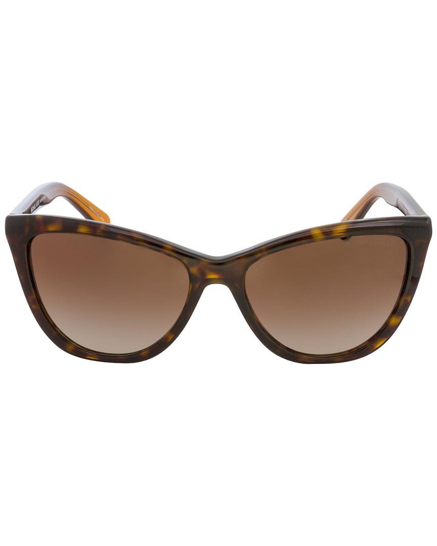 2ab887789f Michael Kors Mk2040f 57mm Sunglasses in Brown - Lyst