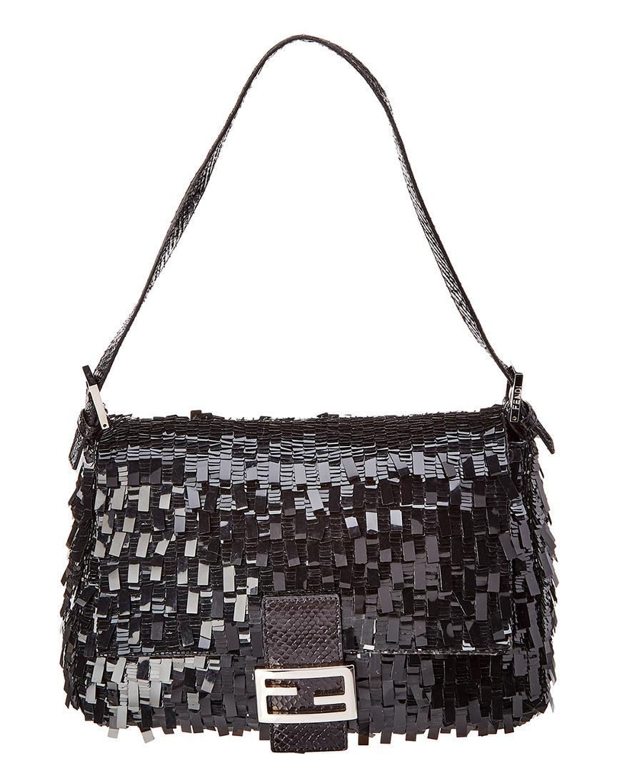 fd1c0e03cea6 Lyst - Fendi Limited Edition Black Acrylic Mamma Shoulder Bag in ...