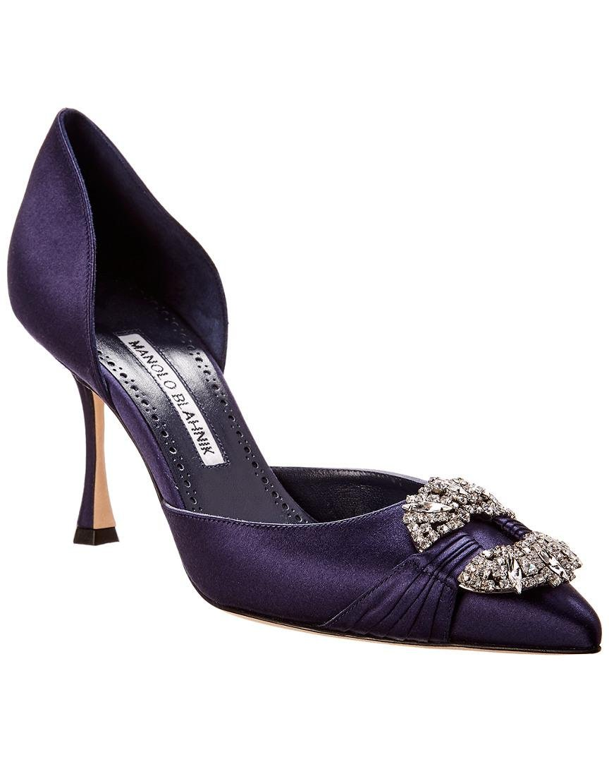 9b493b7d77dc Lyst - Manolo Blahnik Maidugors 90 Satin Pump in Blue