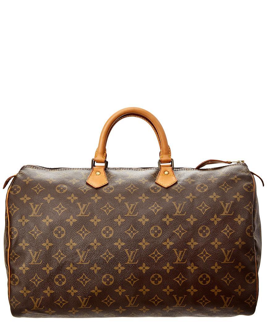 f4f6a11b4152 Lyst - Louis Vuitton Monogram Canvas Speedy 40 in Brown