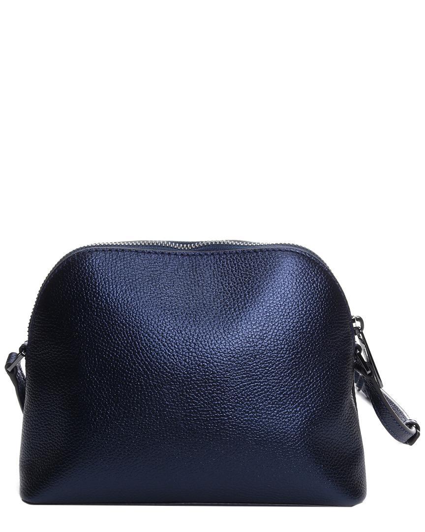 492783e60912e0 Lyst - Michael Kors Adele Leather Crossbody in Blue