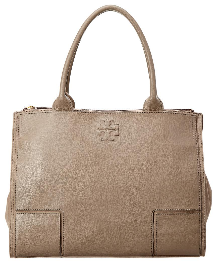 74053d765409 Lyst - Tory Burch Ella Large Canvas   Leather Tote in Brown
