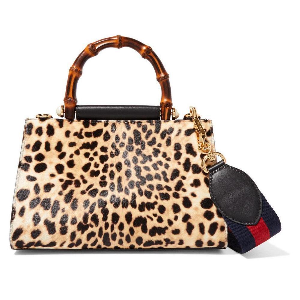 c97c982d702 Gucci. Women s Nymphaea Leopard Print Large Bag