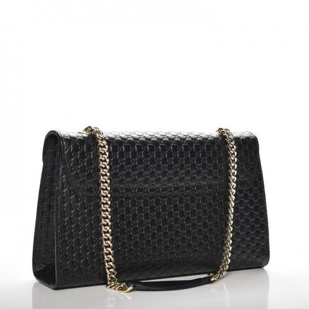 897509737a0 Gucci - Black Emily Ssima Large Chain Shoulder Bag - Lyst. View fullscreen