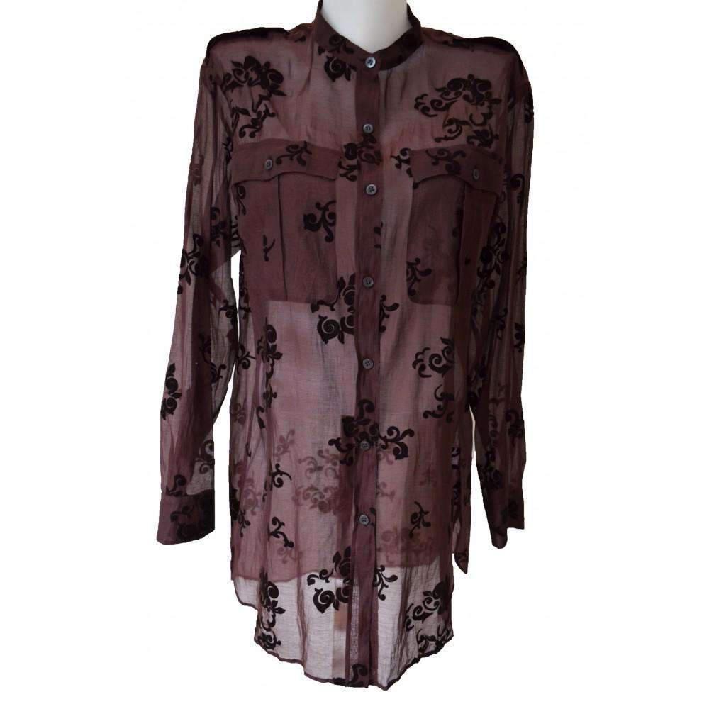 316c9a21e2ac3 Dries Van Noten. Women s Burgundy Floral Shirt