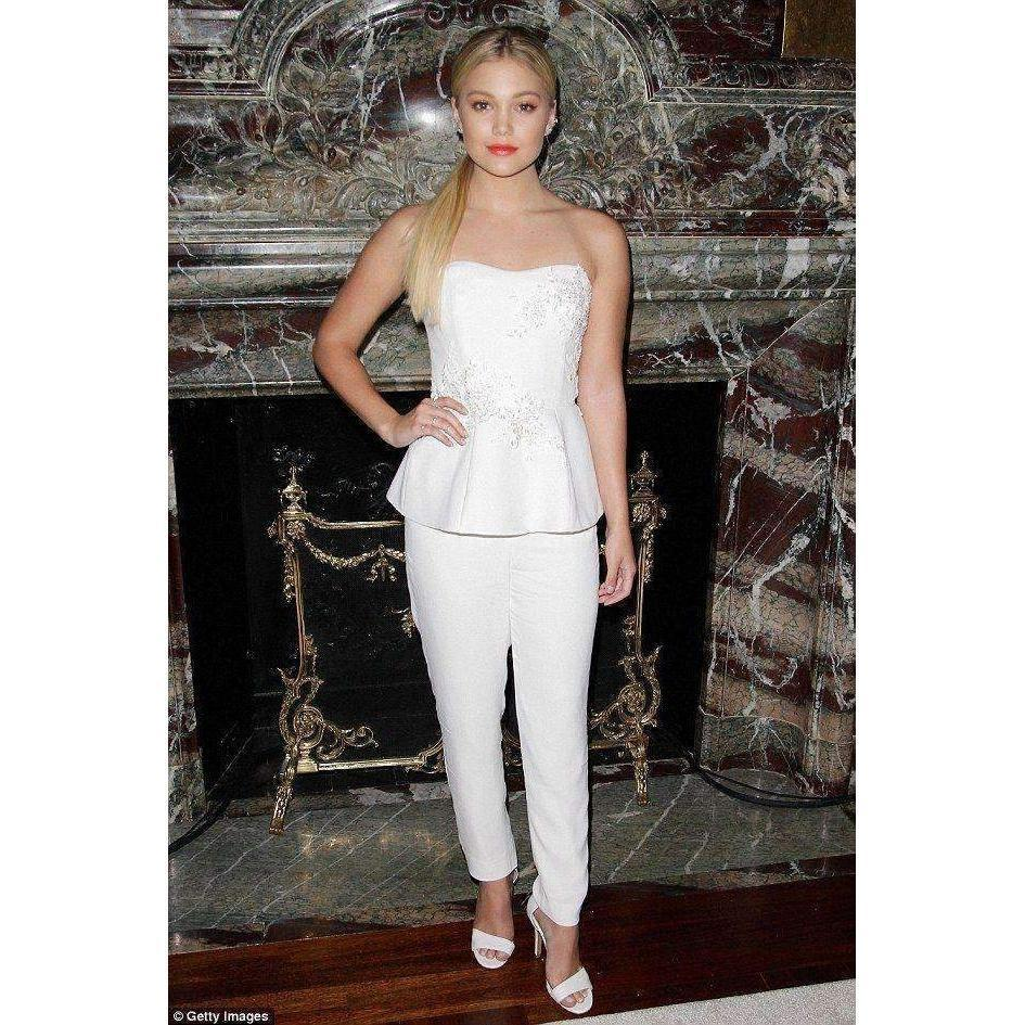 048297a2eb3 Lyst - Marchesa notte Embellished Crepe Jumpsuit in White - Save 14%