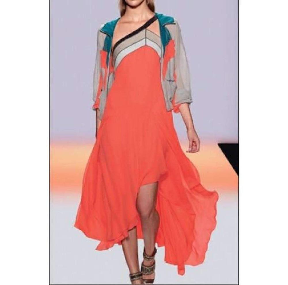 b7e52d8f65 BCBGMAXAZRIA. Women s Runway Bright Ambrosia Kaia Color Blocked Dress