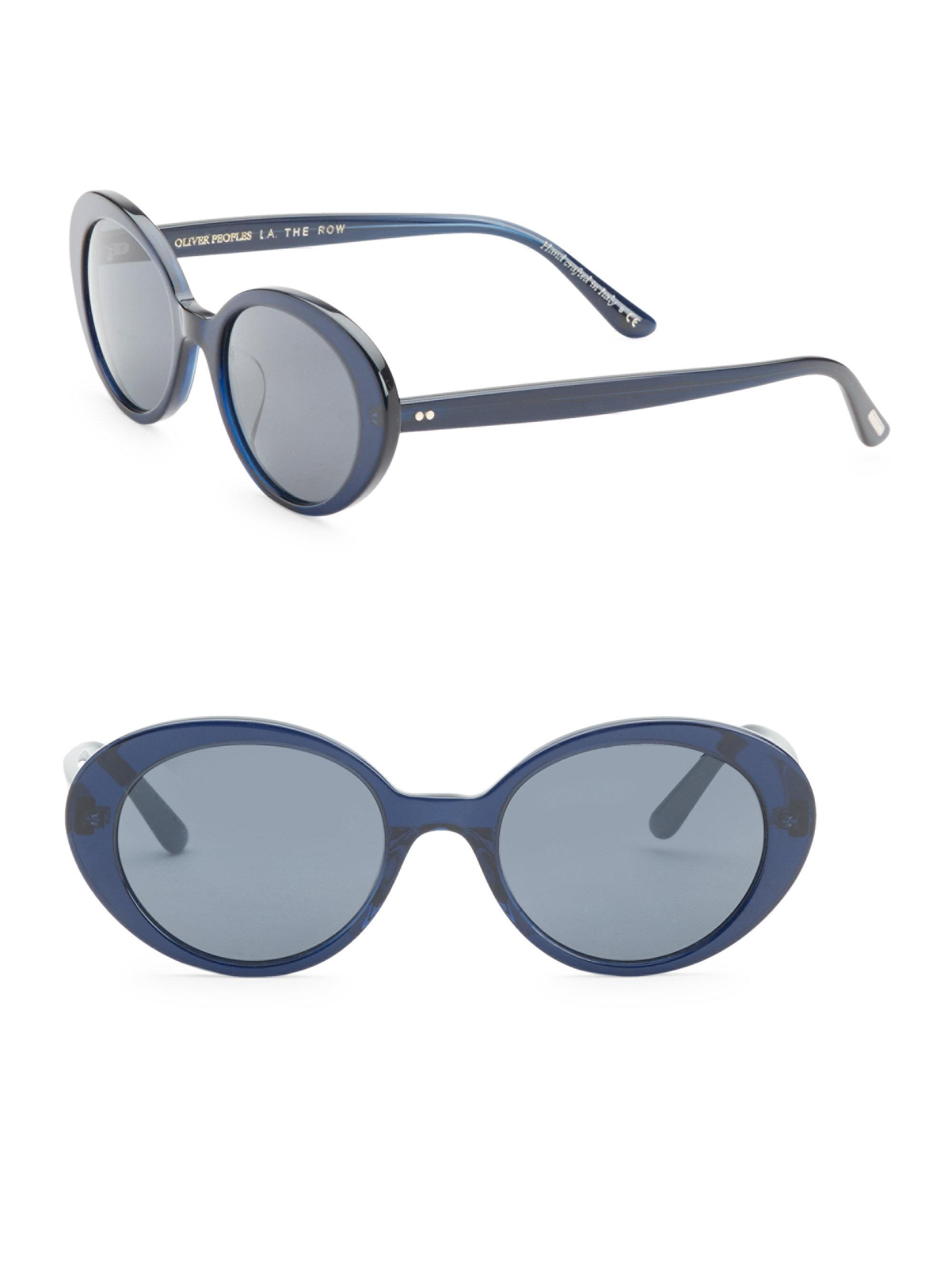 5955260ad50 Oliver Peoples Parquet 50mm Sunglasses in Blue - Lyst