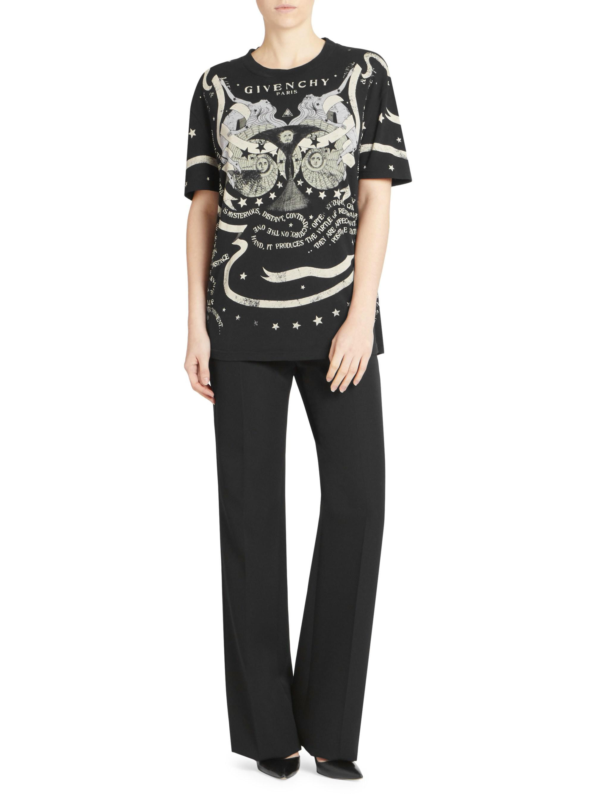 56a8f7a7db3 Lyst - Givenchy Gemini T-shirt in Black