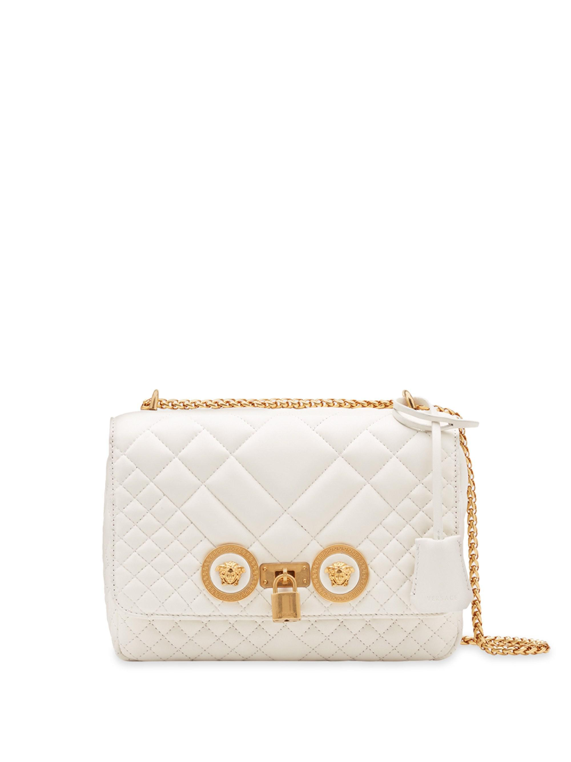 8ed00e612267 Lyst - Versace Quilted Icon Shoulder Bag