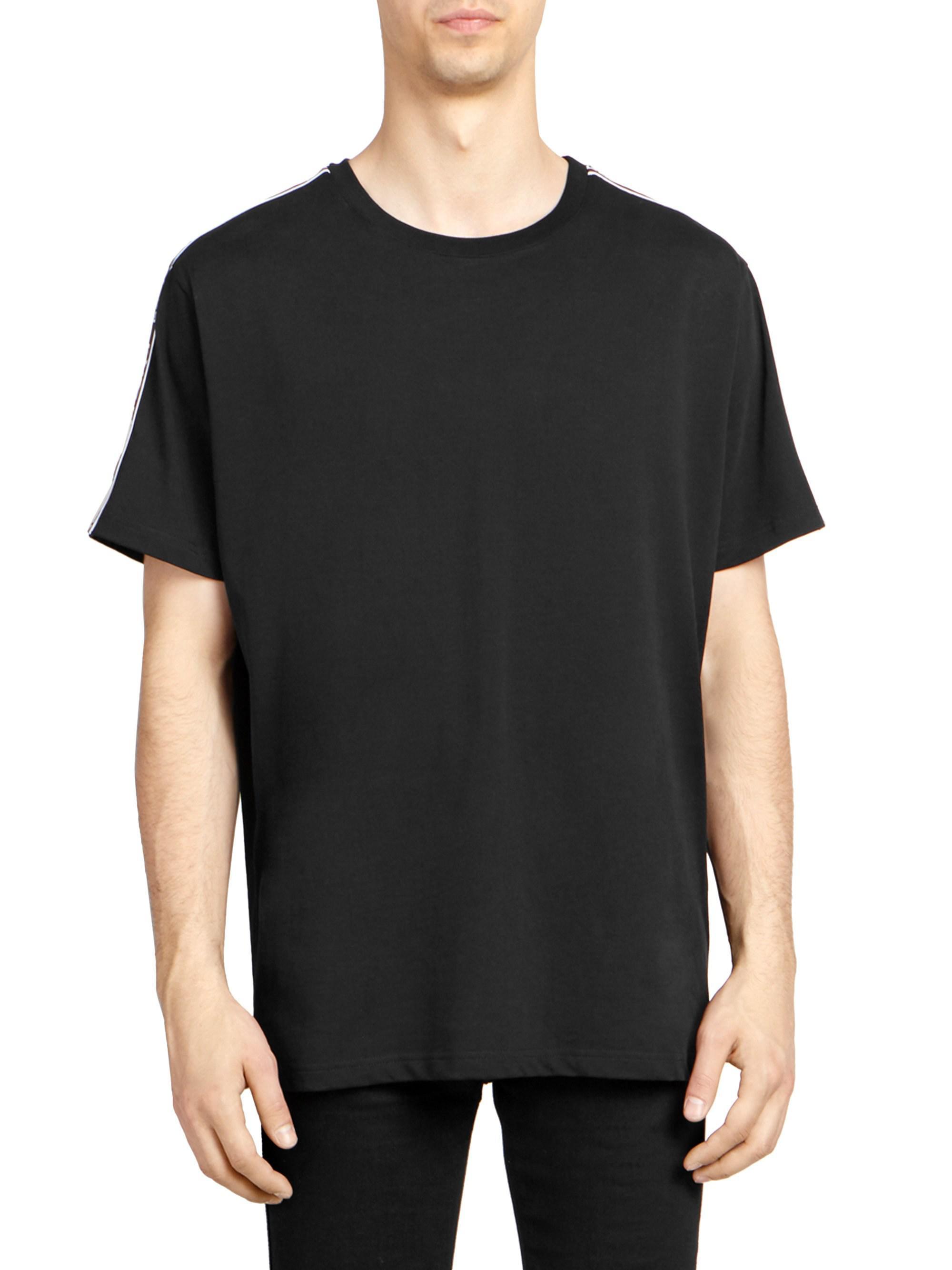 603b6e7c2069 Givenchy Men s Shoulder-tape Logo T-shirt - Black in Black for Men ...