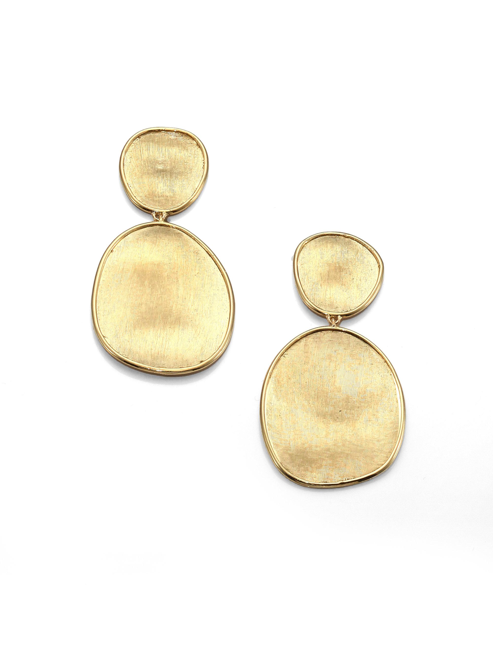 Marco Bicego Lunaria 18k Gold Double-Drop Earrings mkoJ53XDpL