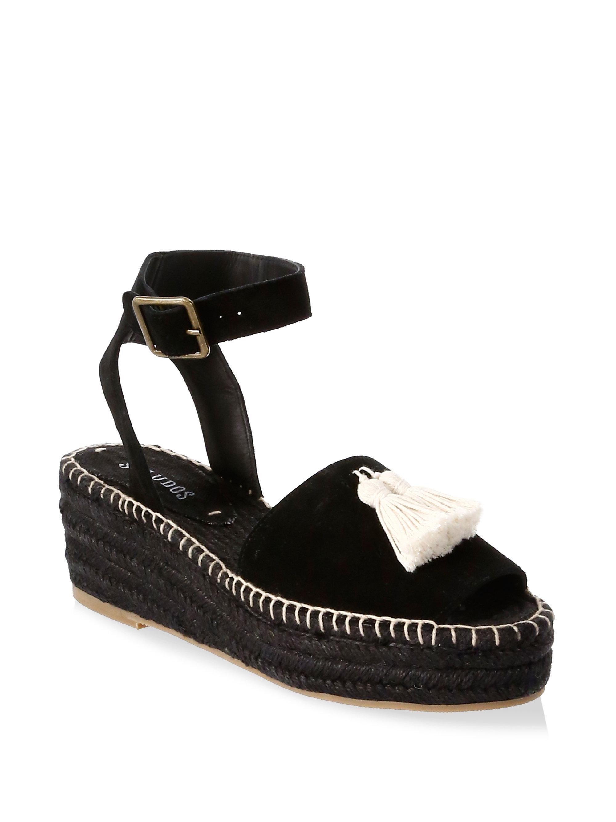 Soludos Tasseled Suede Platform Sandals nLqki0jk