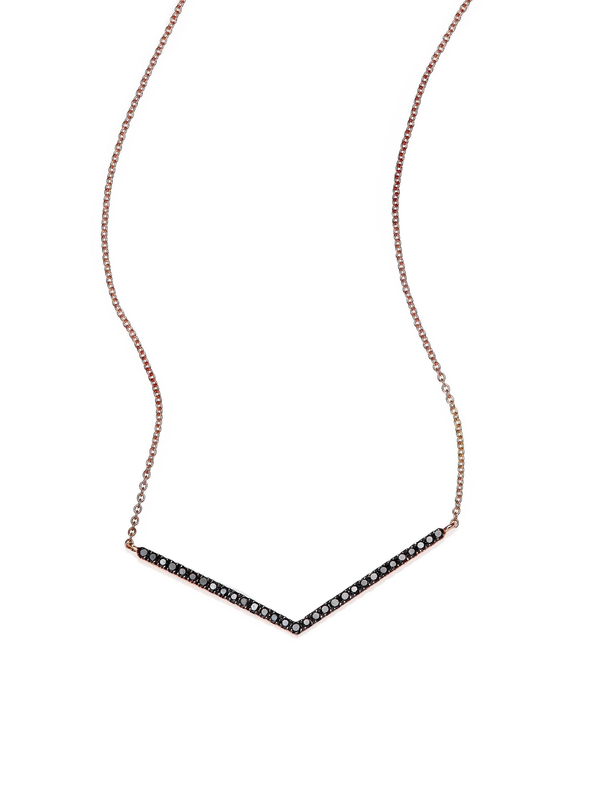 Diane Kordas Diamond & rose-gold Chevron necklace 7gRidT