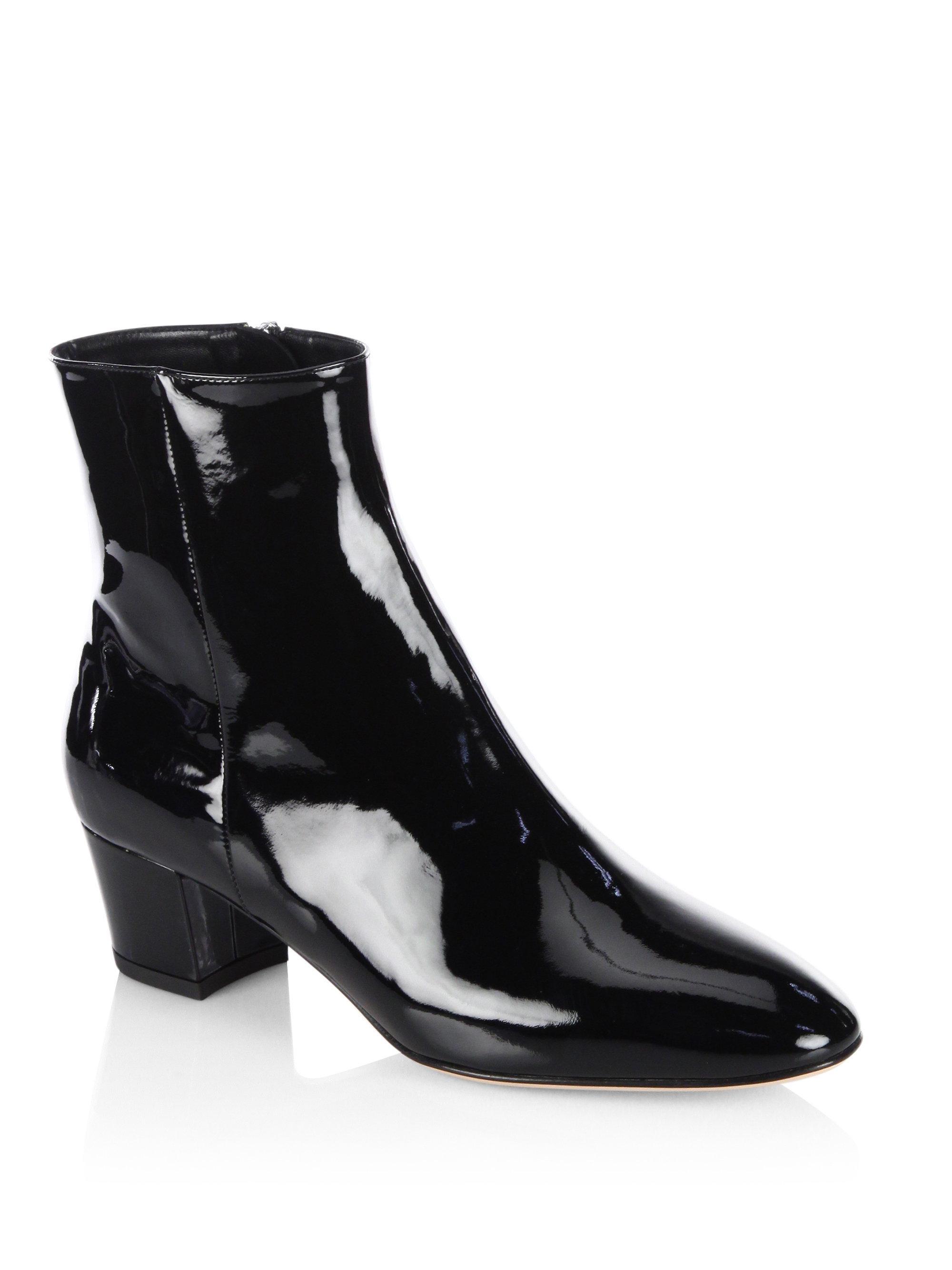 Gianvito Rossi Patent Leather Block Heel Booties l2rEbTO