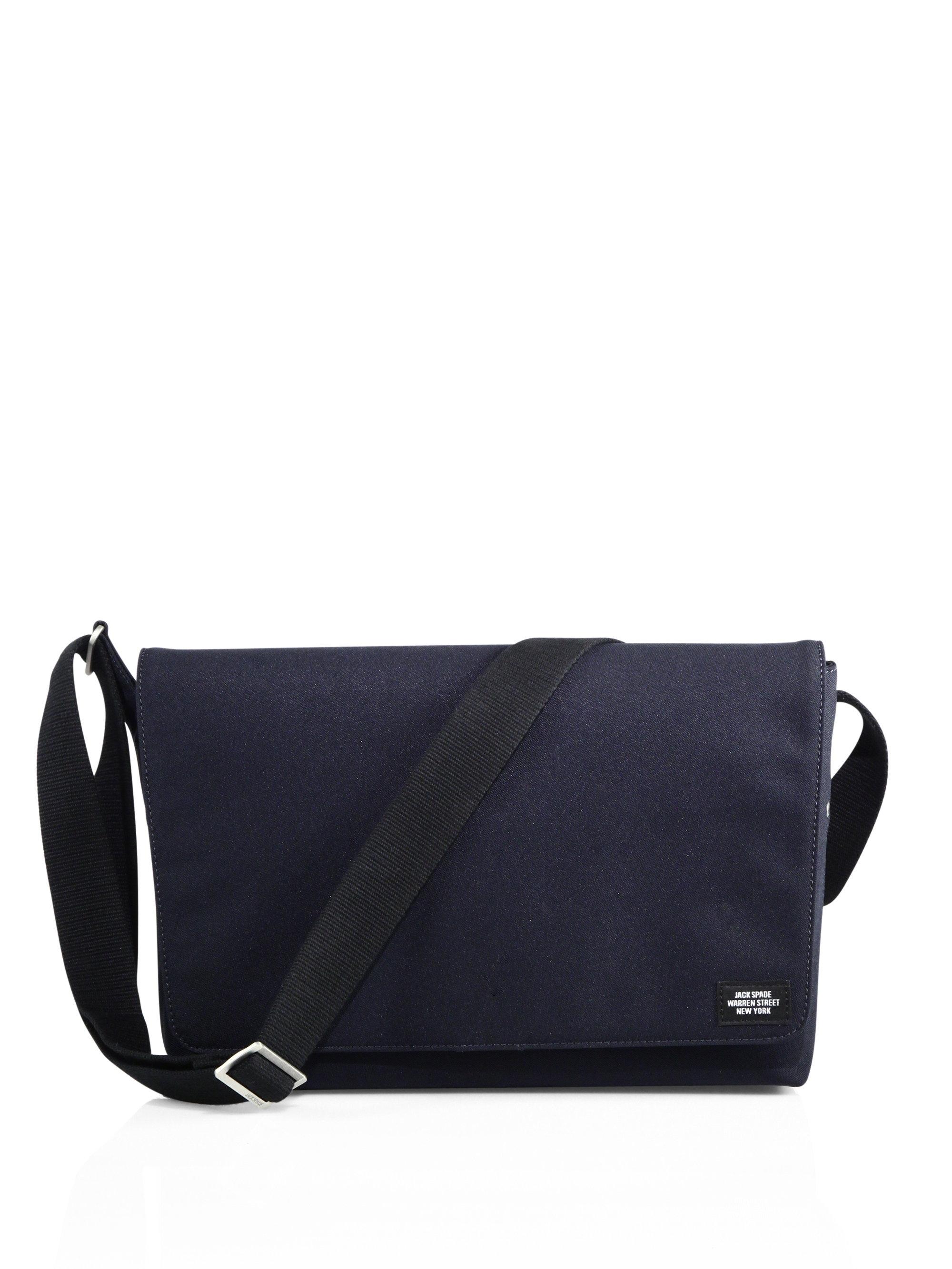 Lyst Jack Spade Solid Messenger Bag In Blue For Men