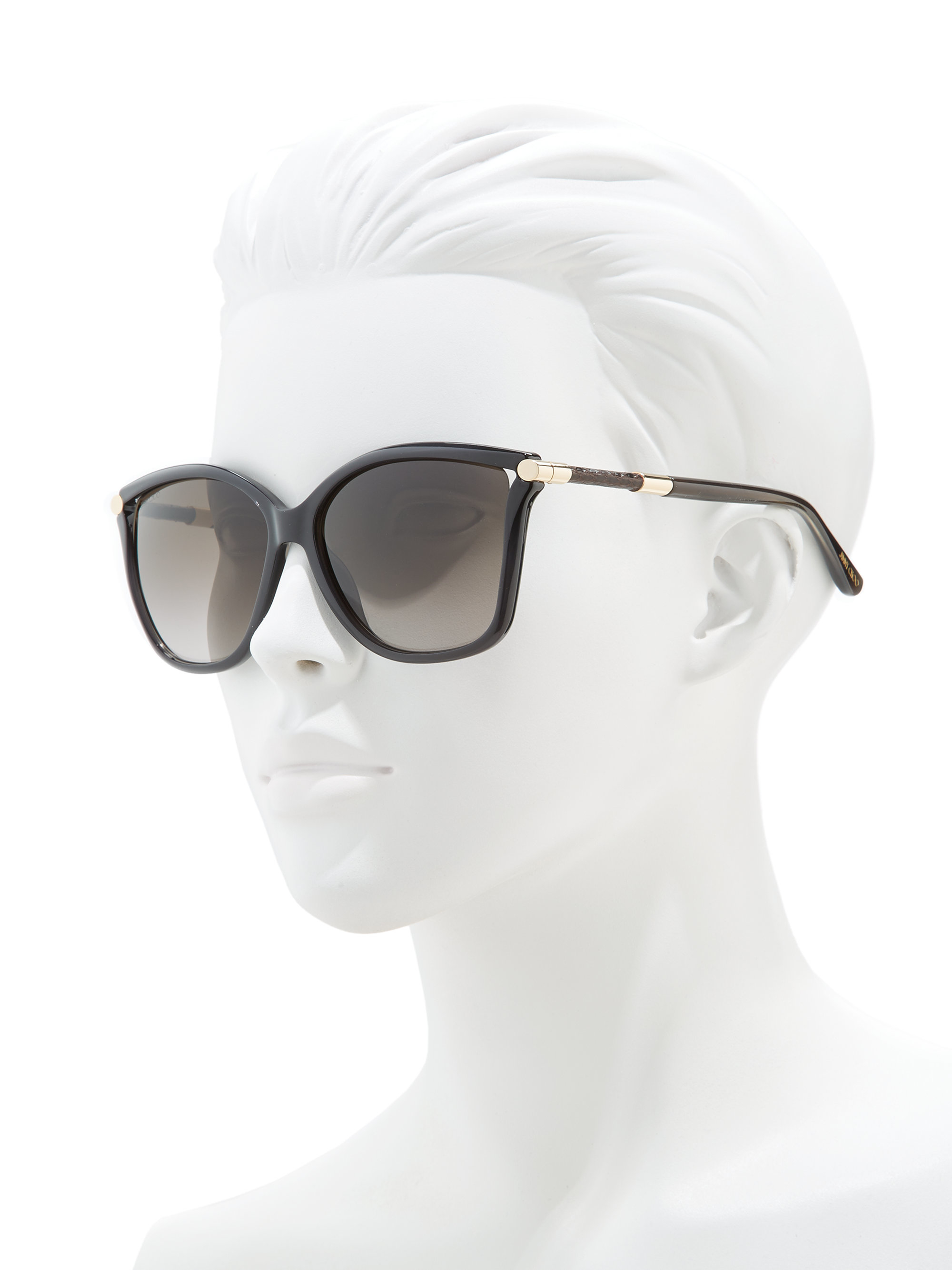 1322cb8b57e Lyst - Jimmy Choo Tatti 58mm Oversized Square Sunglasses in Black