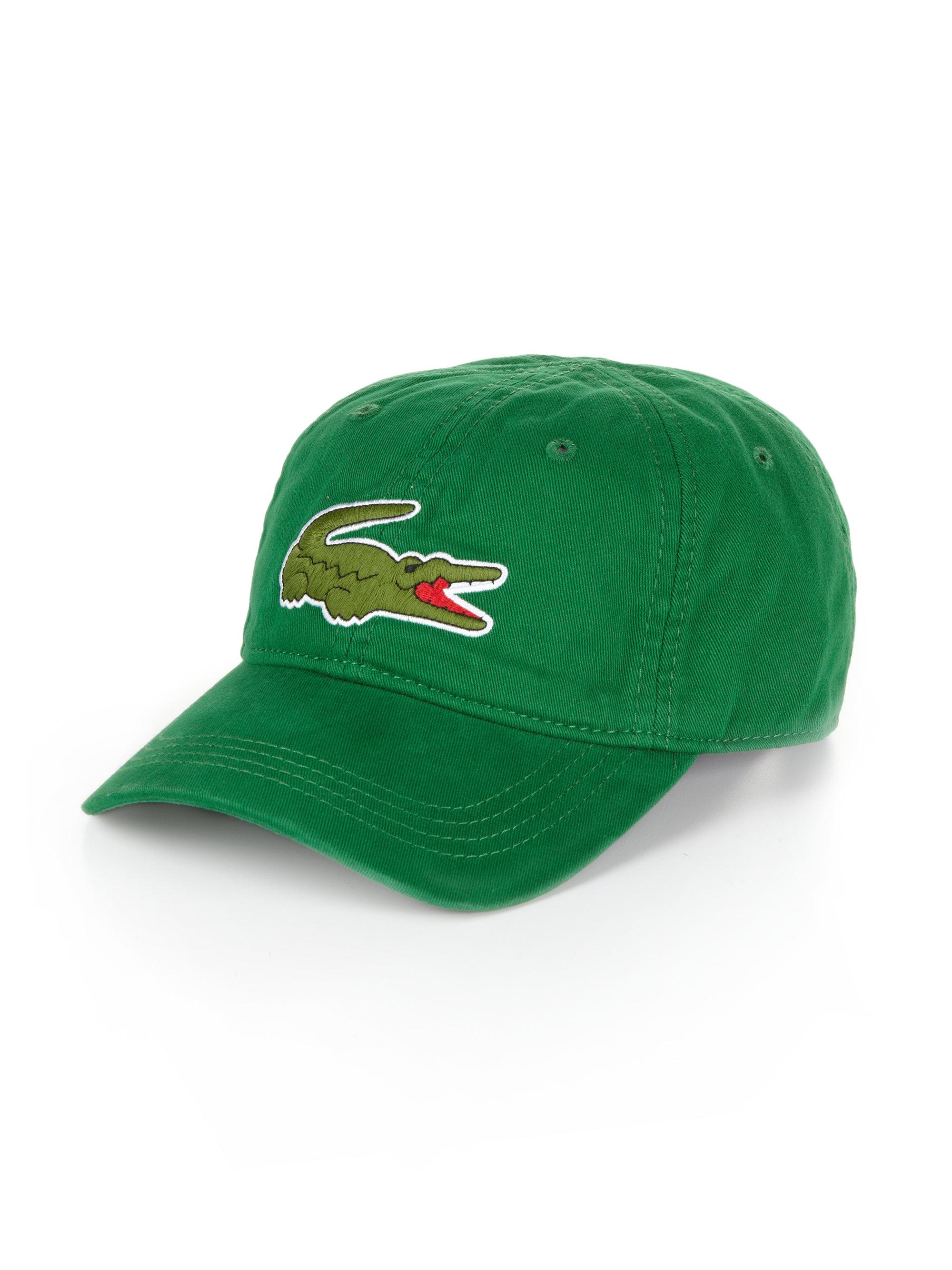 Lyst - Lacoste Large Croc Gabardine Baseball Cap in Green for Men 051cf99e33d