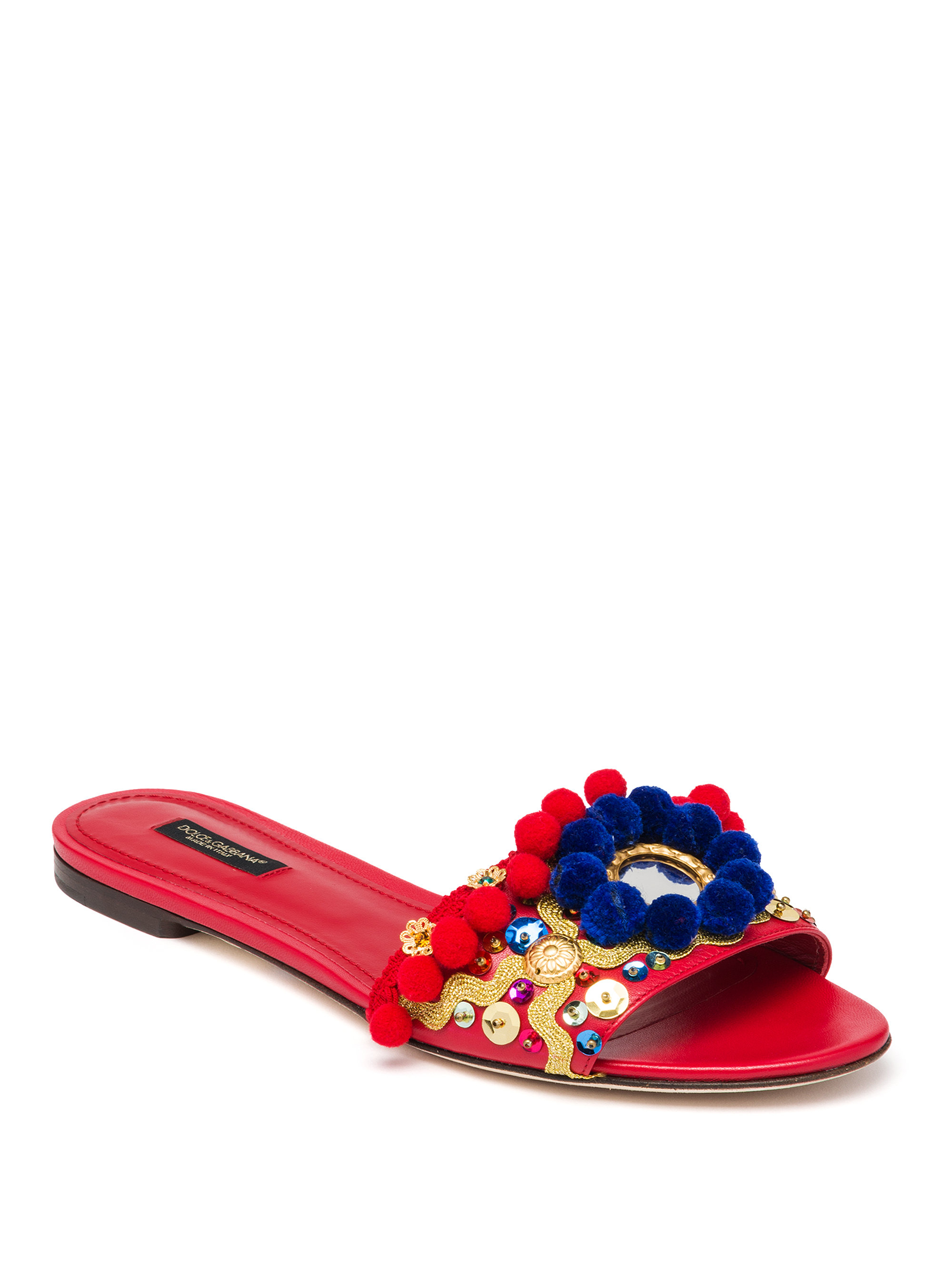discount wholesale price Dolce & Gabbana Studded Slide Sandals extremely online Inexpensive for sale cost for sale 0ybyI