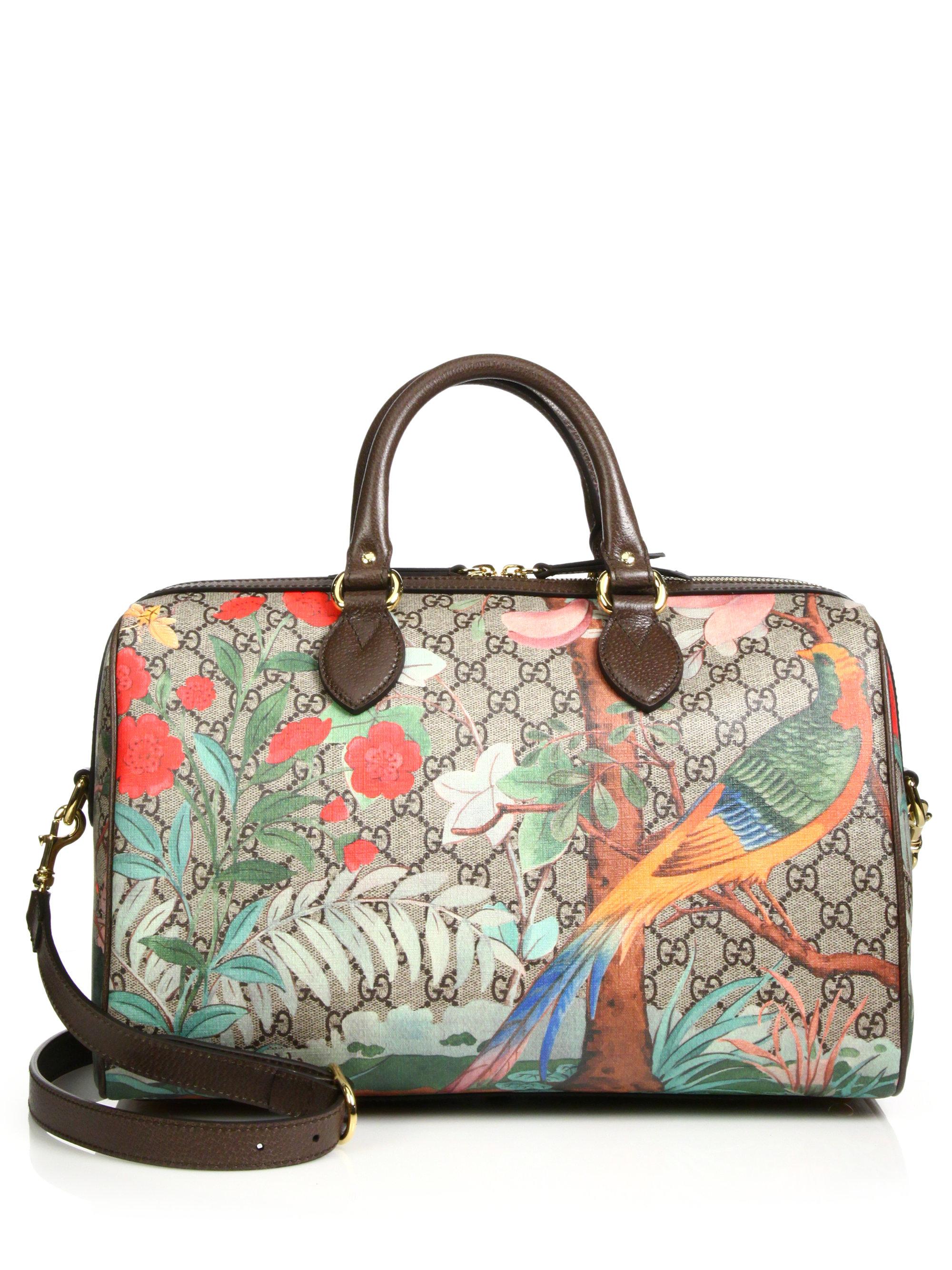 23397e02e58 Lyst - Gucci Tian Gg Supreme Top-handle Boston Bag