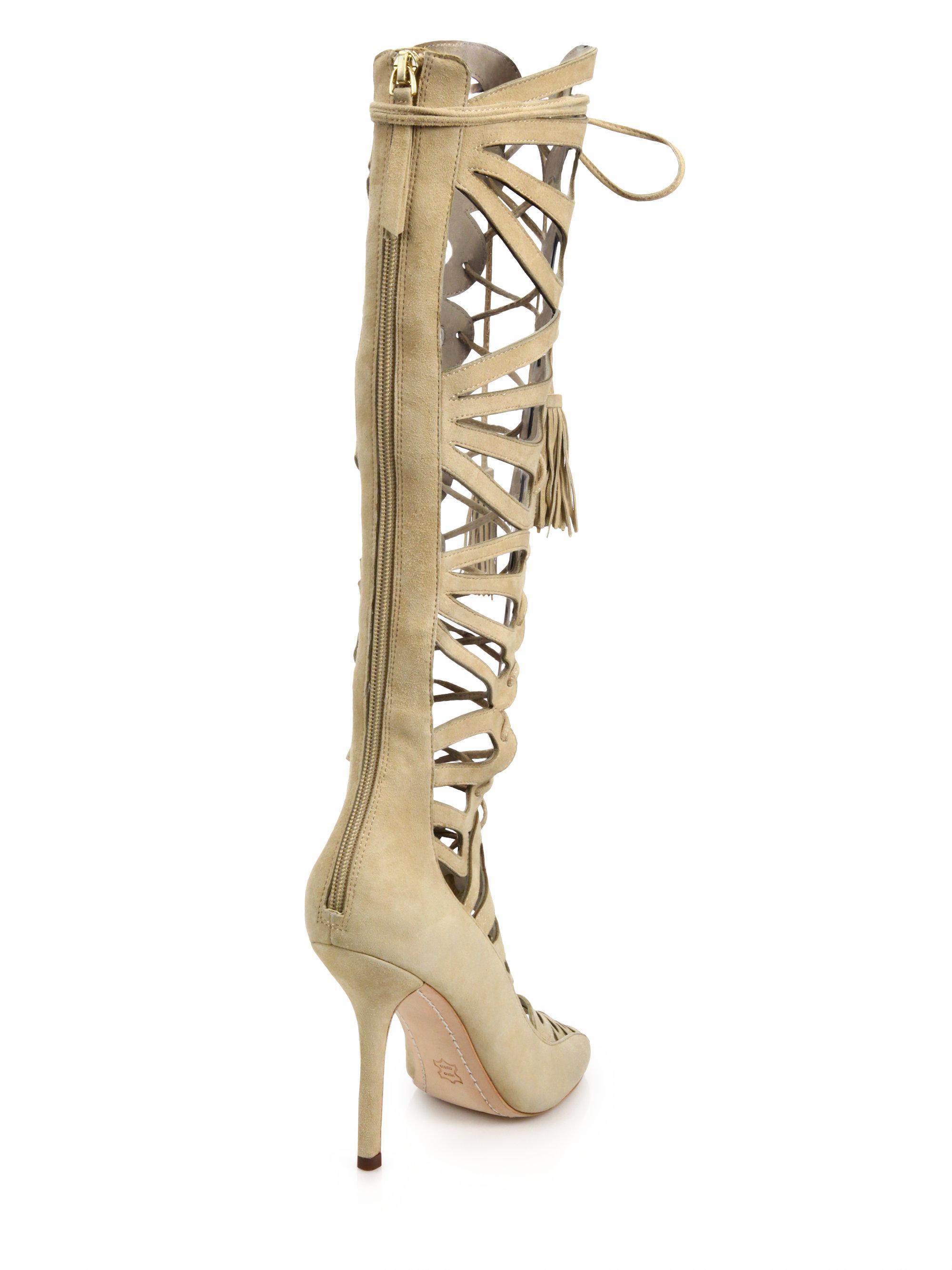 Lyst Alice Olivia Naomi Tall Suede Gladiator Sandals