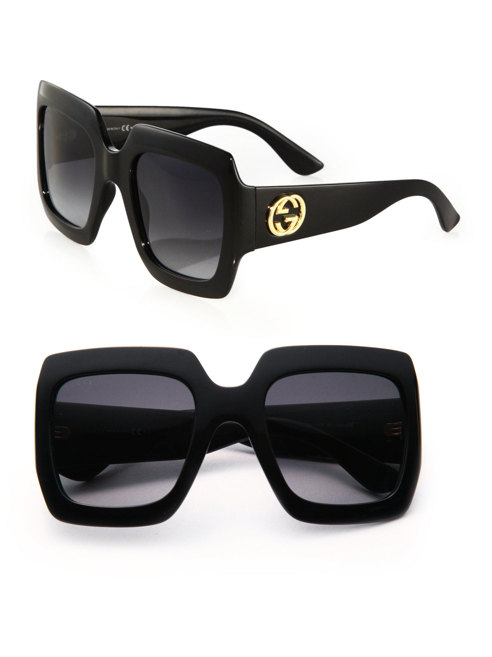 03715f5352 Gucci 54mm Oversized Square Sunglasses in Black - Lyst