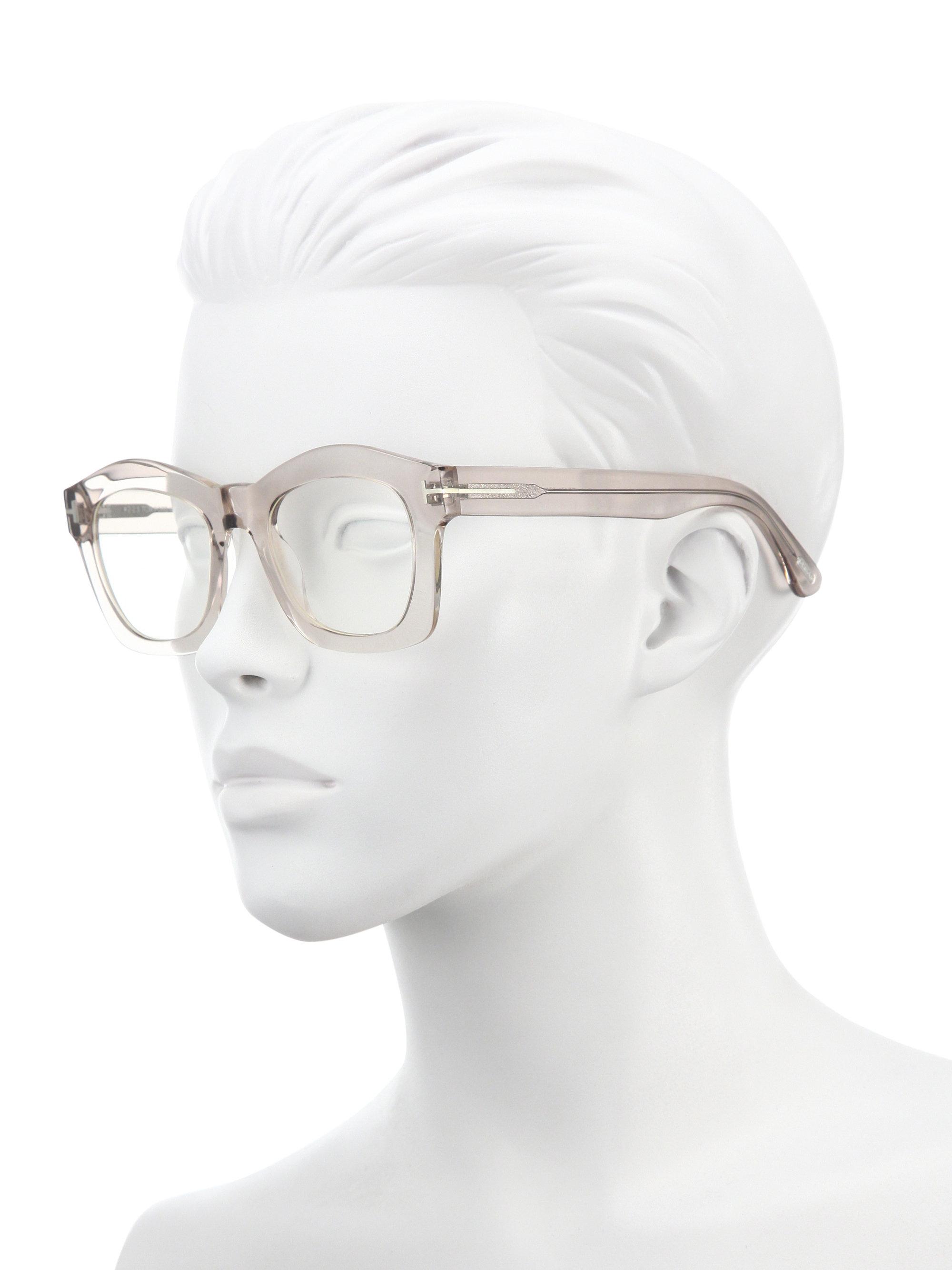 7c1214c682da Lyst - Tom Ford Greta 50mm Geometric Square Sunglasses in Pink