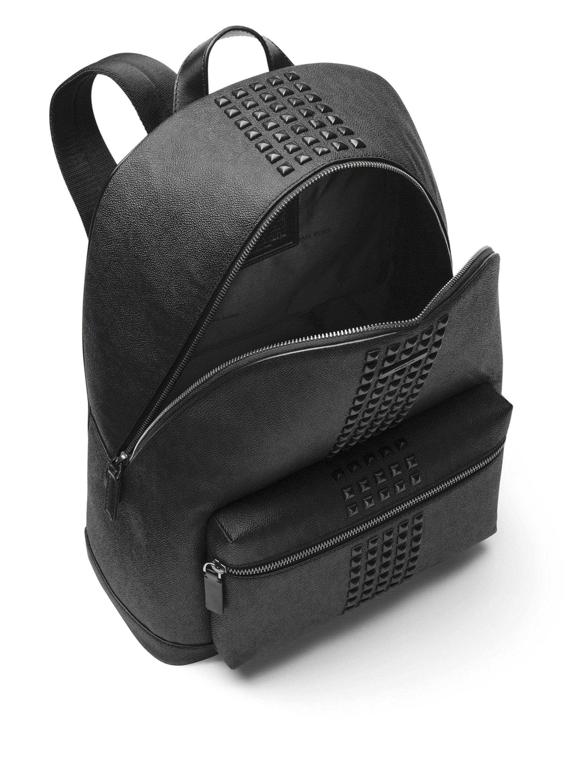 fe71d4d6d086be Michael Kors Jet Set Studded Backpack in Black for Men - Lyst