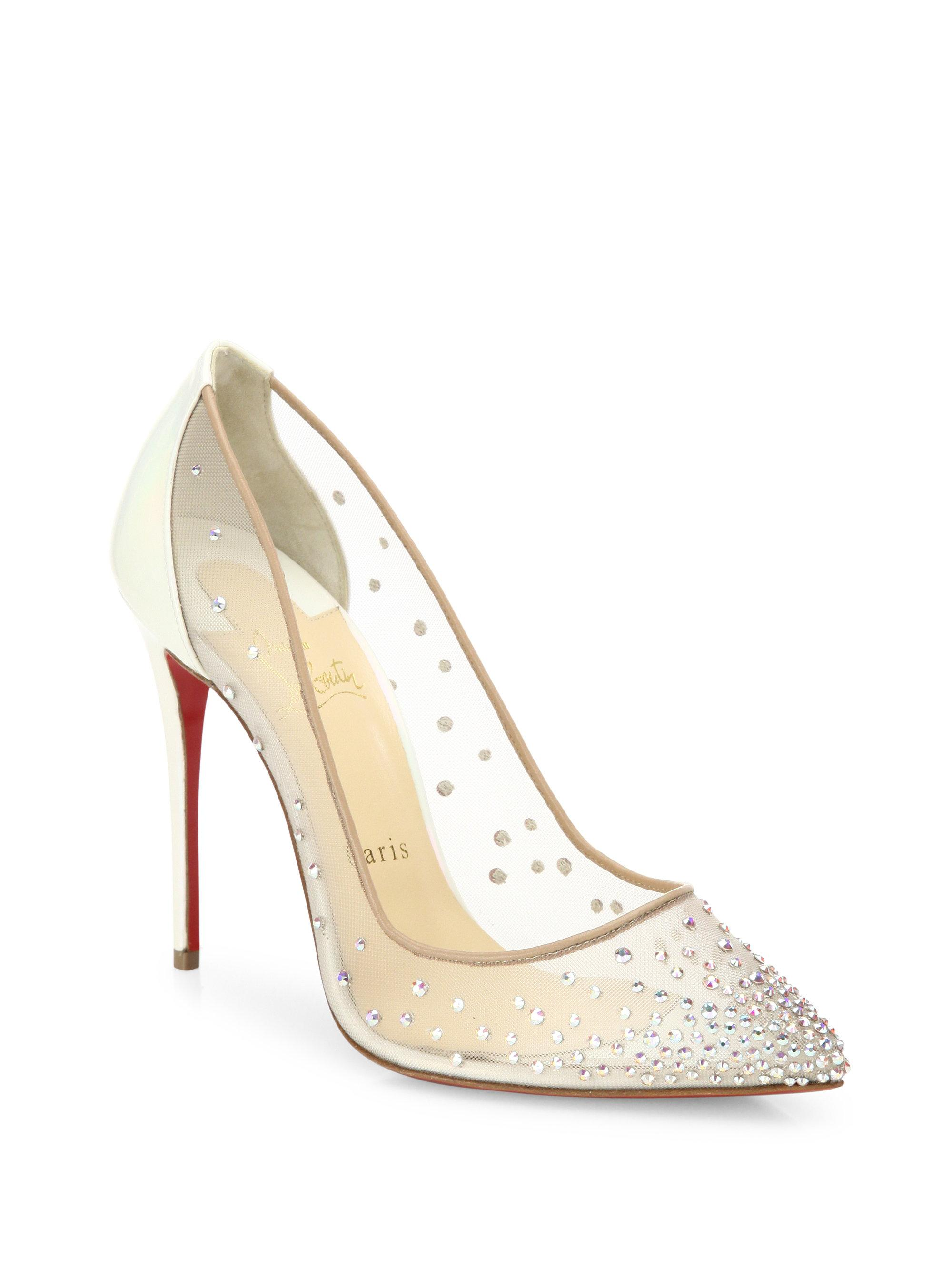 louboutin wedding shoes christian louboutin follies amp mesh point toe pumps 5604