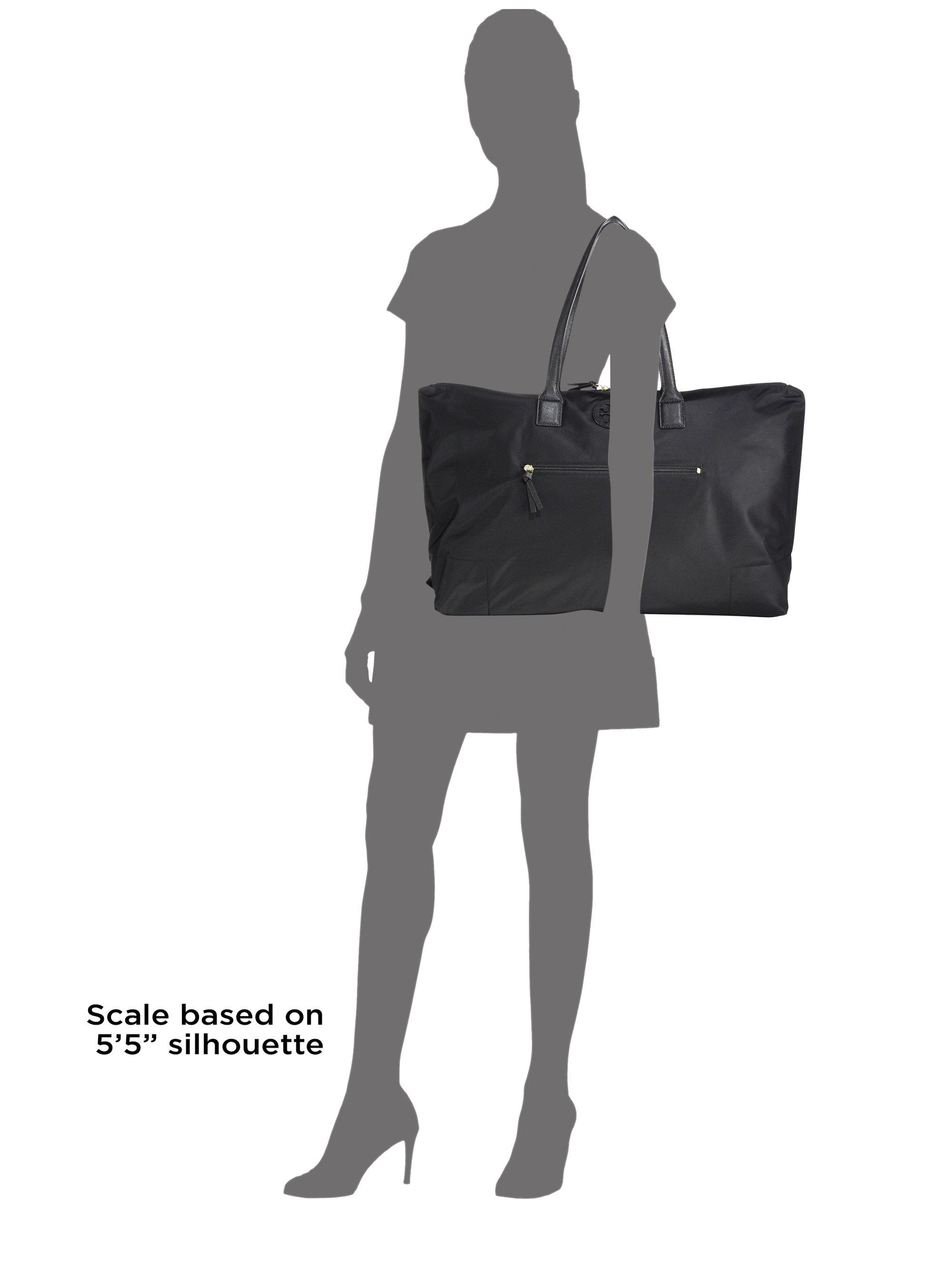 Lyst - Tory Burch Ella Packable Overnight Nylon Satchel in Black c6df834b57